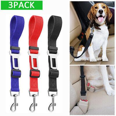 3X Dog Pet Safety Adjustable Car Seat Belt Harness Leash Travel Clip Strap - Adjustable Seat Leash