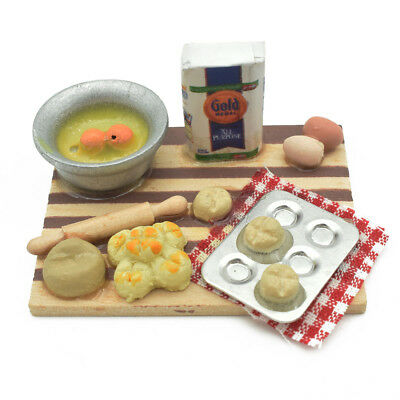 1:12 Scale Dollhouse Mini Kitchen Accessories Cooking Dish Furniture Kids Toy