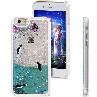3D Moving Liquid Dolpings Quicksand Glitter Case Cover For iPhone X 8 6s 7 Plus