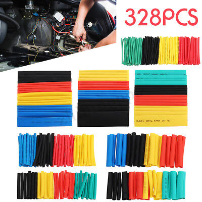328pcs Heat Shrink Tubing Insulation Shrinkable Tube 21 Wire Cable Sleeve Kit