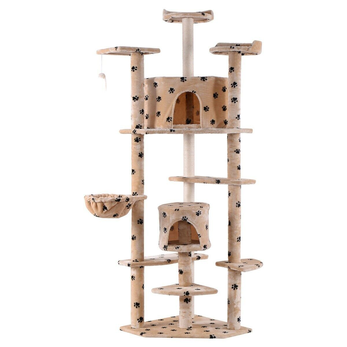 """80"""" Cat Tree Condo Kitten Elevated Tower Play Pet House Bed"""