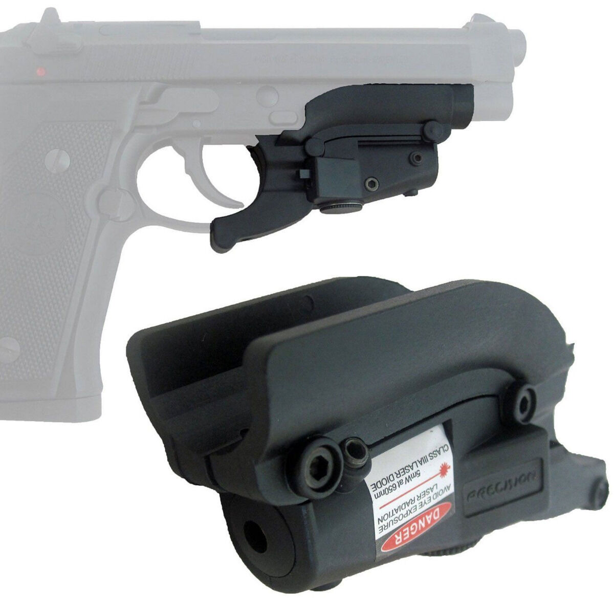 Details about Tactical Red Dot Laser Sight with Lateral Grooves For Beretta  Model 92 96