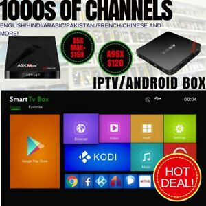 IPTV/Android Box A5 Max+ Get 1000s of Channels