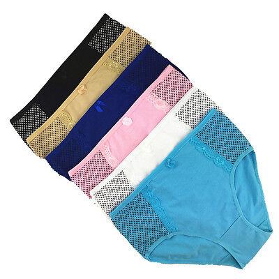 2 4 6 Pcs Lot Womens High Waist Comfort Cotton Full Briefs Underwear Basic Panty ()