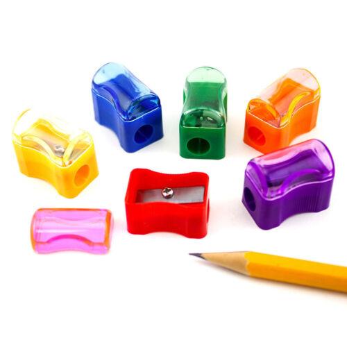 72pcs Rainbow Plastic Assorted Pencil Sharpeners School Classroom Bulk Supplies