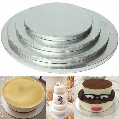 Pro Round Cake Thick Drum Board Stand Holder Base Wedding Birthday - Round Cake Boards