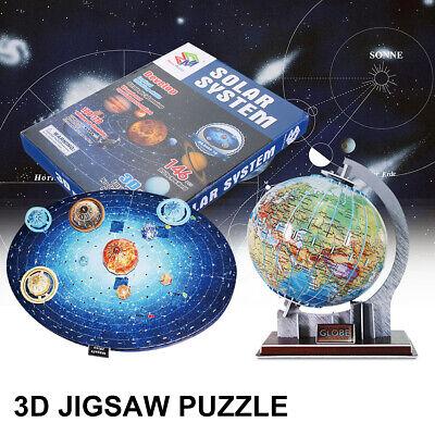 3D Globe Solar System Jigsaw Puzzle Model Intelligence Toys Child Kids Gift US (3d Globe Puzzle)