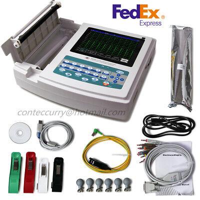 Ce Ecg1200g Digital 12 Channel 12 Lead Ekg Machinepc Sync Softwarecontec Fedex