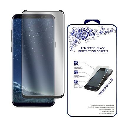 Case Friendly  Samsung Galaxy S8 3D Curved Full Cover Glass Screen Protector