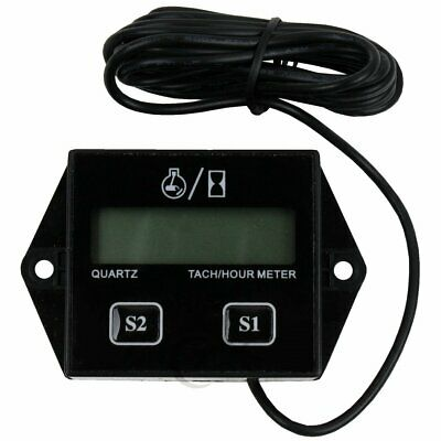 Lcd Digital Engine Tach Hour Meter Gauge For Racing Motorcycle Black Us Stock