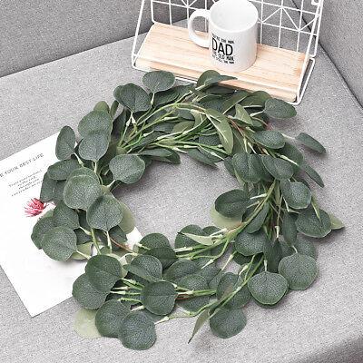 Artificial Greenery Garland Faux Silk Eucalyptus Vines Wreath Wedding Wall Decor (Artificial Eucalyptus Garland)