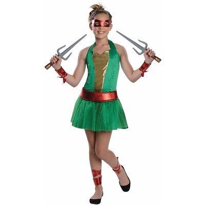 Ninja Turtles Costumes Girls (Teenage Mutant Ninja Turtles Raphael or Donatello Costume 8-10 Medium)
