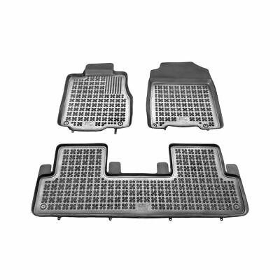 Fußmatten, Gummi Honda CRV ab 2012, Schwarz, 3 Stück (Crv Teppich)