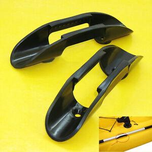 2X Kayak Marine Boat Paddle Clip Holder Watercraft Plastic Accessories Black USA