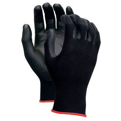 Work Safety Polyurethane Coated Nylon Work Gloves 380-5 1 6 12 Pairs