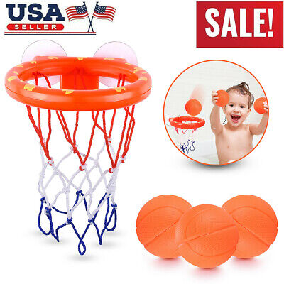 Baby & Toddler Gift Set Bath Toys, Basketball Balls & Hoop, Boys & Girls Game US