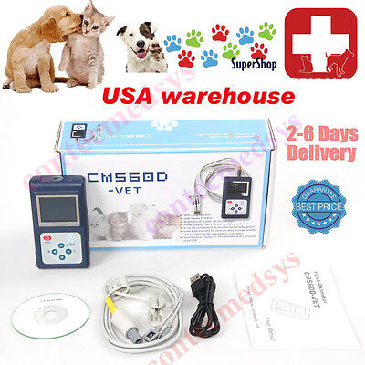 Vet Handheld Veterinary Pulse Oximeter With Tongue Spo2 Probepc Software