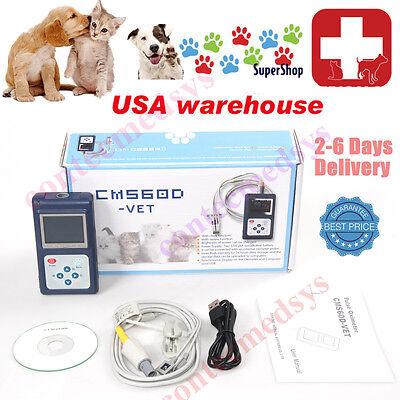 Vet Handheld Veterinary Pulse Oximeter With Tongue Spo2 Probepc Software