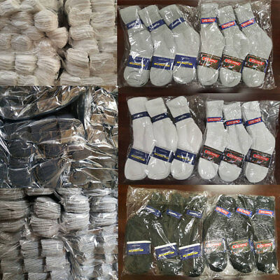 5~200 Dozens Wholesale Lots Men Solid Sports Cotton Crew Socks Gift Cheap Xmas (Cheap Sports)