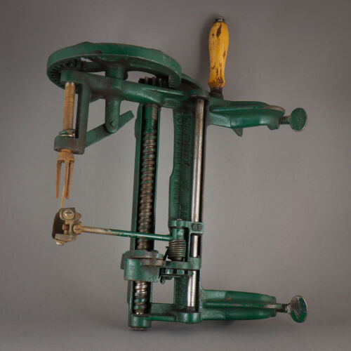🍎1901 Antique Heavy Duty Dual Clamp Goodell Improved Bay State 64 Apple Peeler