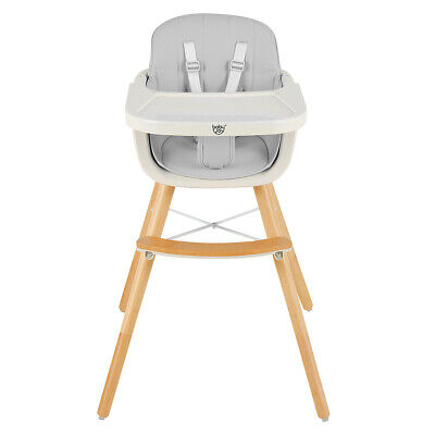 2-in-1 Baby High Chair Infant Children Toddler Feeding Booster Seat Adjustable