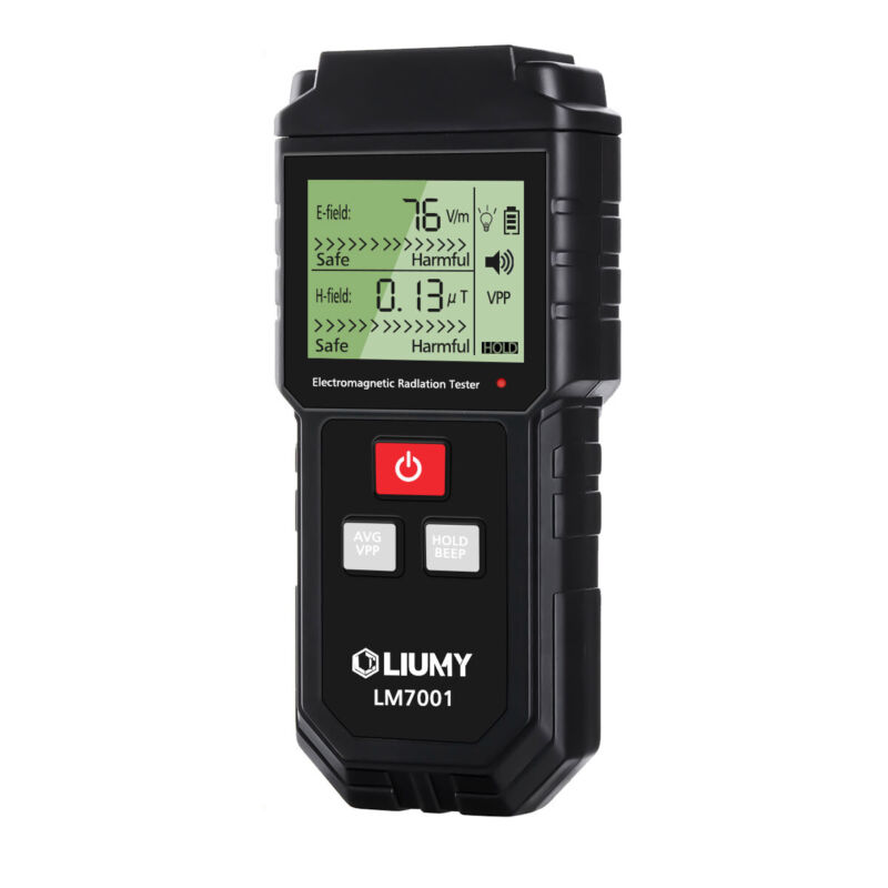 US Electromagnetic Radiation Tester EMF Meter Electric Magnetic With Battery