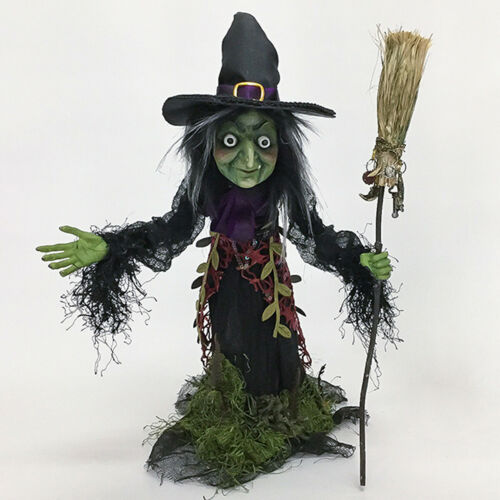 Midnight Witch with Broomstick Katherine