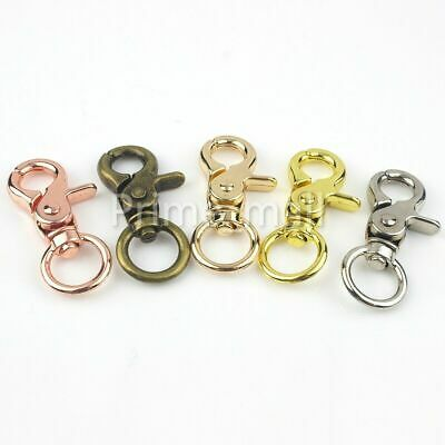 Swivel Eye Snap Hook Lobster Trigger Clasp Clip Bag Belt Chain Strap Keychain Eye Trigger Snap