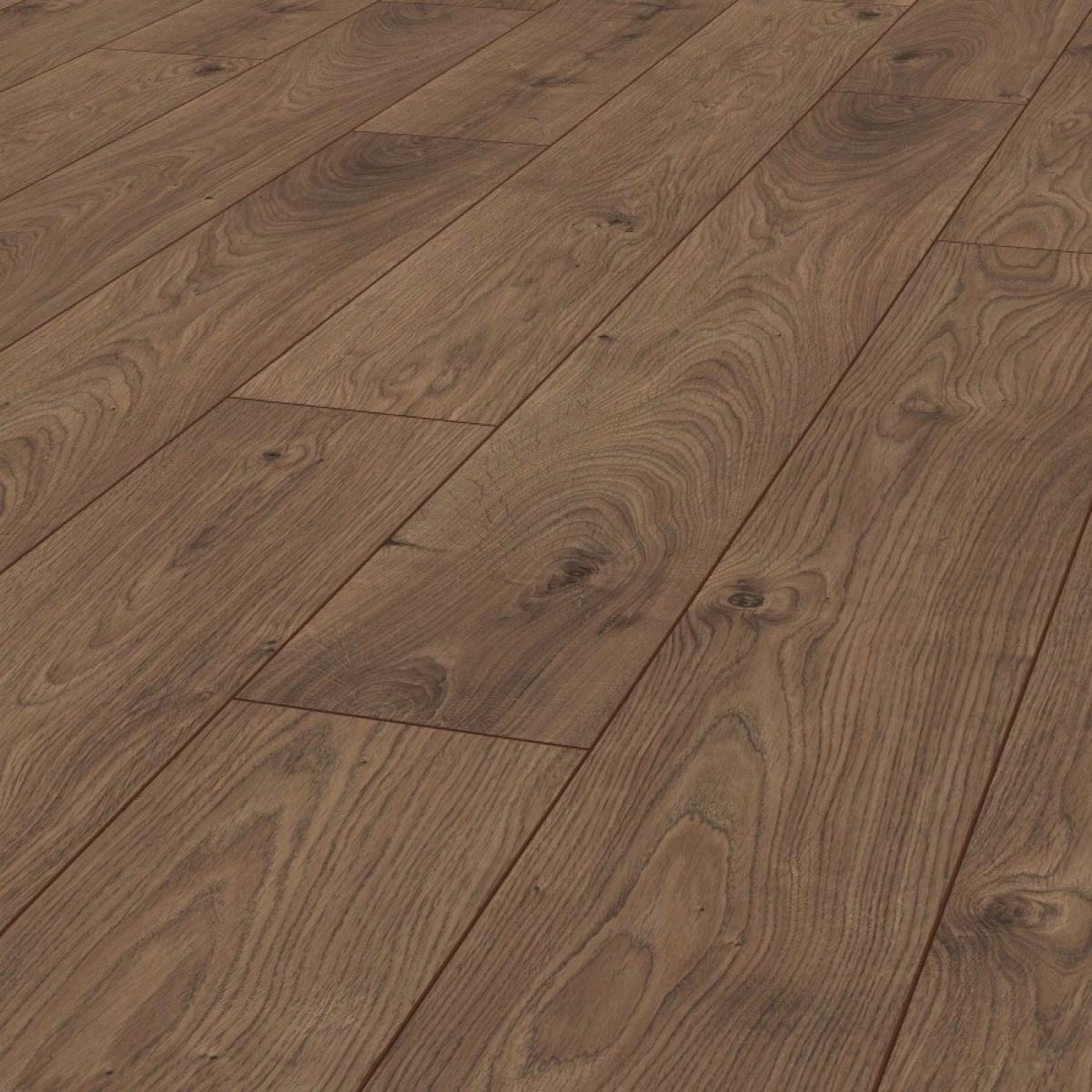 Kronotex Atlas Oak Coffee 12mm V Groove Ac5 Laminate Flooring Sample Piece