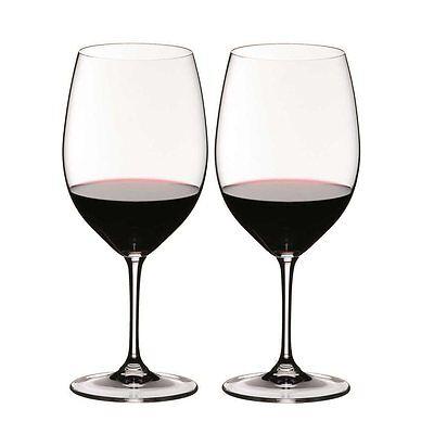 RIEDEL Serie VINUM Cabernet Sauvignon / Merlot 2 Stück Inhalt 610 ml Bordeaux Riedel Vinum Bordeaux Cabernet