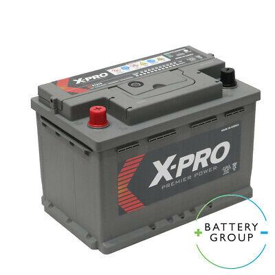 X-Pro 57219 12V 72ah 610CCA Car battery UK 072 / 096R / 086 Varta Replacement