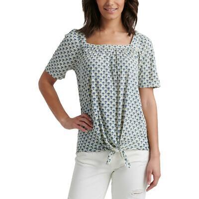 Lucky Brand Womens Blue Printed Modal Blend SorS Pullover Top Shirt XL BHFO 1976