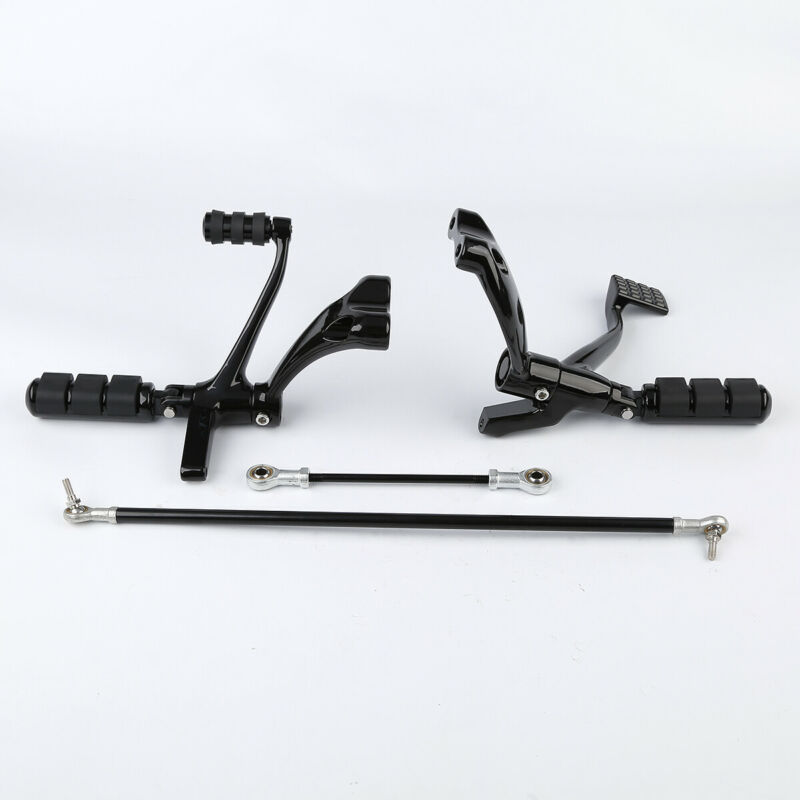 Black Forward Controls Peg Lever Linkages Mounting Hardware Kit Compatible with 2014-2018 Harley Sportster XL883 XL1200 Selected Model