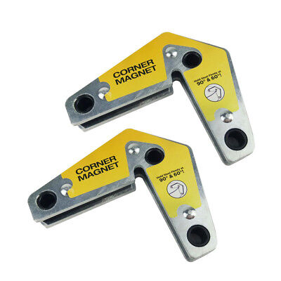 2pcs Dual-use Strong Welding Magnet Corner Magnetic Holder 60 90 Angles New
