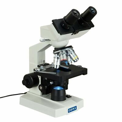 Omax 40x-2500x Lab Binocular Compound Led Biological Microscope Mechanical Stage