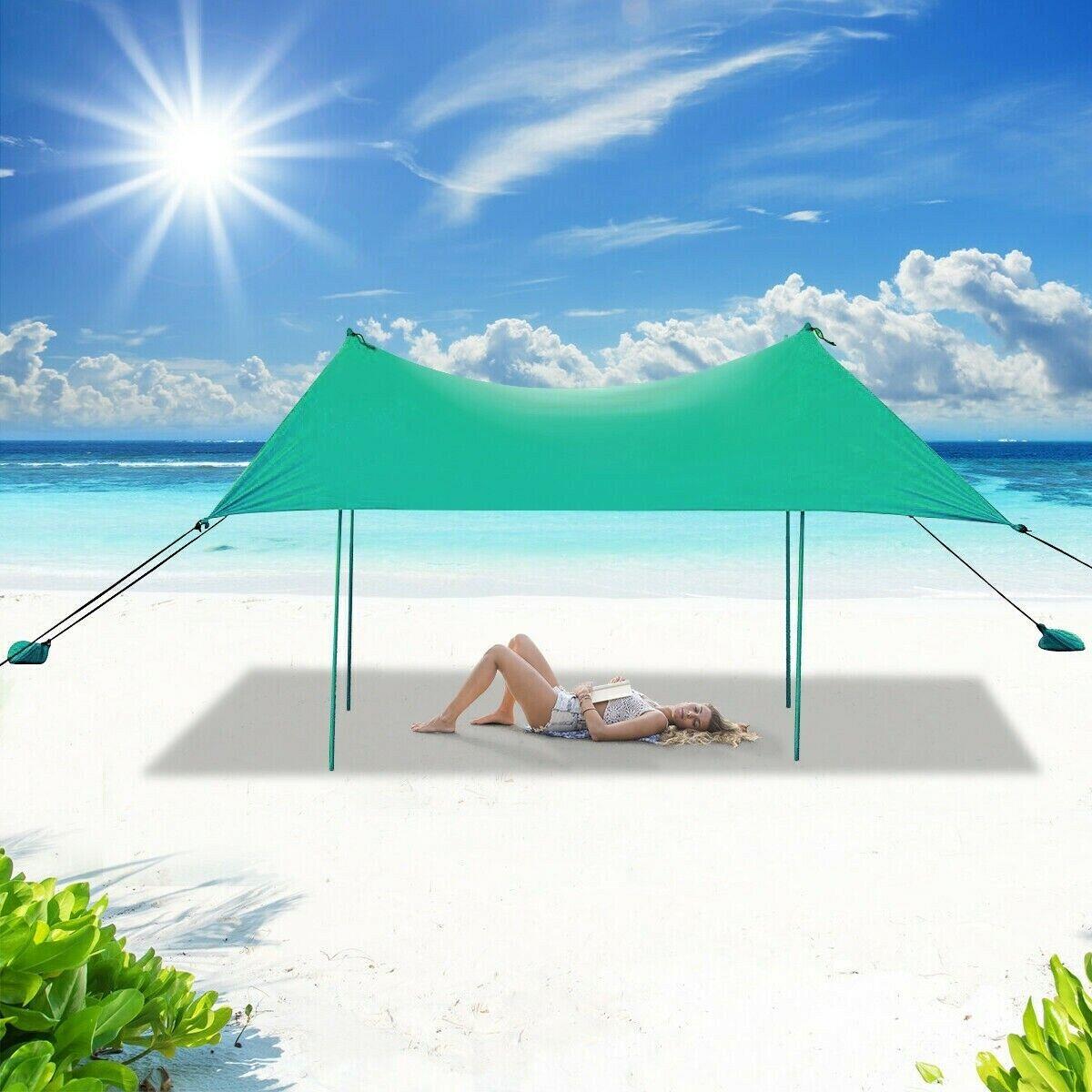 beach canopy shade tent sun shelter backyard