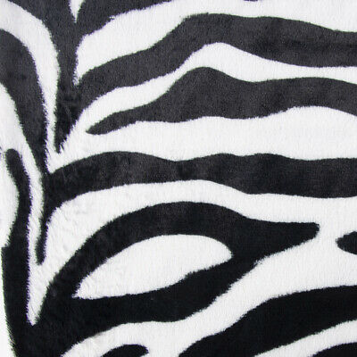 Kunstfell Fellimitat Plüsch Zebra kuschelweich weiß schwarz 1,5m - Kind Plüsch Zebra Kostüme