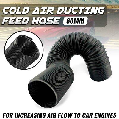 1M 80MM FLEXIBLE COLD AIR DUCTING FEED HOSE PIPE FOR CAR AIR FILTER INTAKE UK >