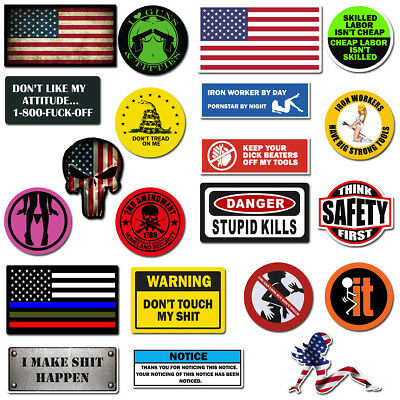 Home Decoration - Hard Hat Stickers, Premium Thick Funny Vinyl Decals for Hardhat, Helmet, Toolbox