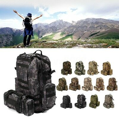 60L Military Tactical Molle Backpack Bag Pouch Camping Hiking Trekking Outdoor