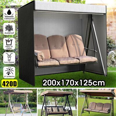 Garden Furniture - 3-Seater Swing Seat Hammock Cover Outdoor Garden Patio Furniture Waterproof