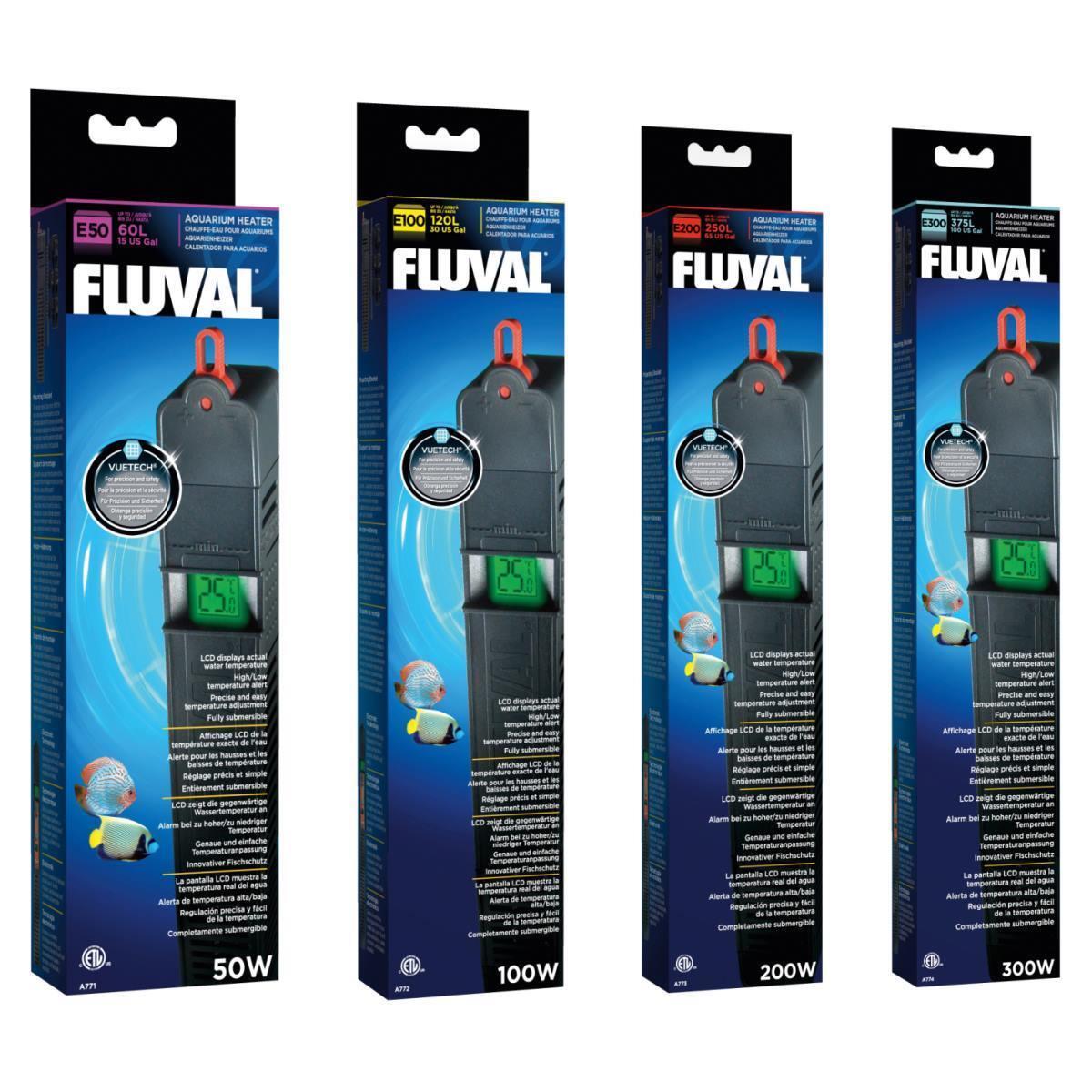 Fluval E-Heizer, Heizstab, eintauchbarer Aquarienheizer - verschiedene Größen !