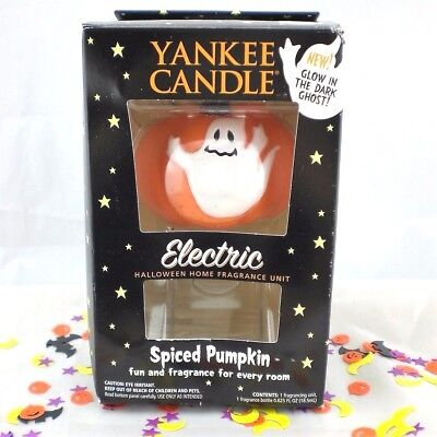 Yankee Candle Electric Spiced Pumpkin Glowing Ghost Halloween Home Fragrance HTF