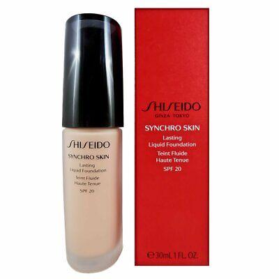 Shiseido Synchro Skin   Lasting Liquid Foundation   Oil Free   SPF 20 - 30mL