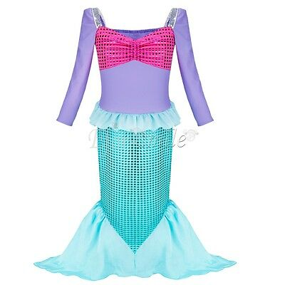 Mädchen Meerjungfrau Kostüm Prinzessin Kleid Kind Cosplay Kostüm - Kleine Meerjungfrau Kostüme Mädchen
