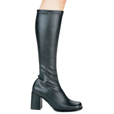 GoGo Boots Adult Womens Chunky High Heel Shoes Costume