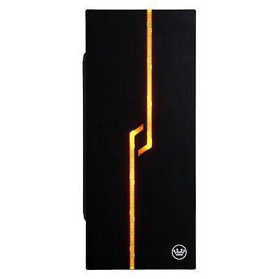 Mid Tower LED Desktop PC ATX Aluminum Computer Case, Black