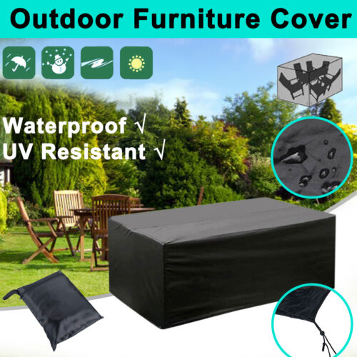 Garden Furniture - NEW 270*180cm Waterproof 8 Seater Outdoor Furniture Cover Patio Garden Table AU