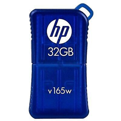 HP V165W 32GB mini USB 2.0 Flash Drive, Model: P-FD32GHP165 Blue in retail pack