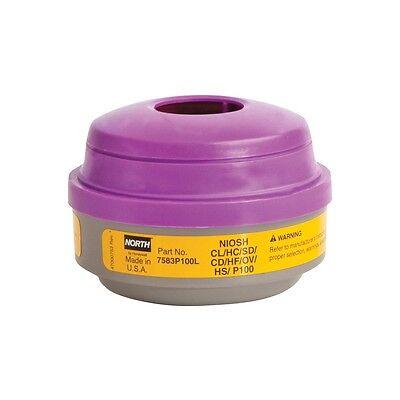 North Safety by Honeywell 7583P100L Vapor & Acid Gas Respirator Cartridge 2 Pack